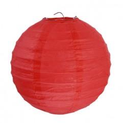 2 Lanternes 20 Cm Rouges