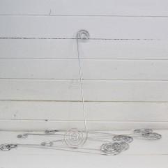 6 broches en fil aluminium argent