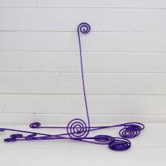 6 broches en fil aluminium violette
