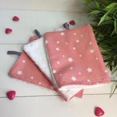 Lot de 3 gants étoile rose