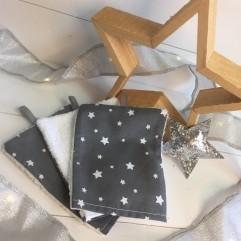 Lot de 3 gants étoile grise