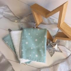 Lot de 3 gants étoile mint