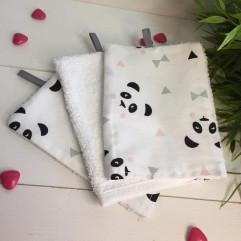 Lot de 3 gants panda