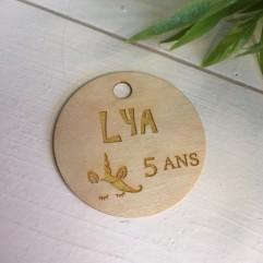 Lot de 10 étiquettes licorne en bois