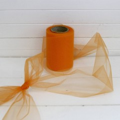 20 m de tulle ariane orange