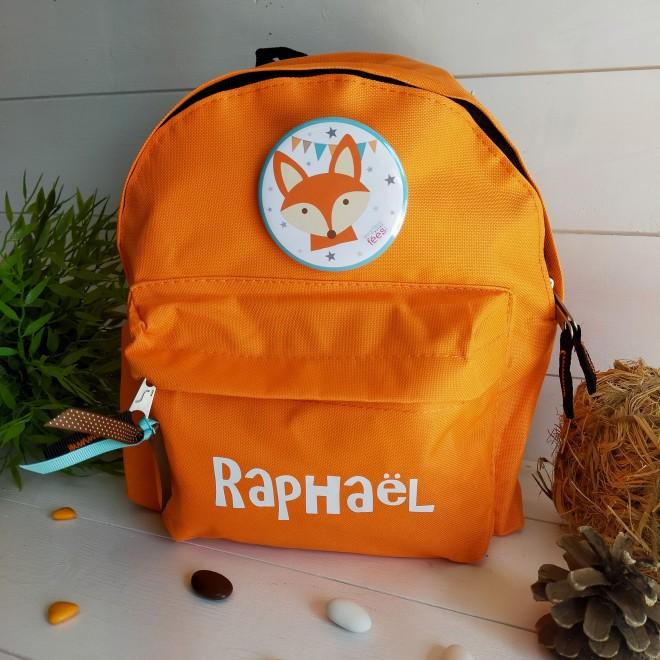 sac à dos orange renard
