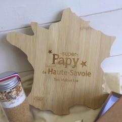 Planche en bois carte de France