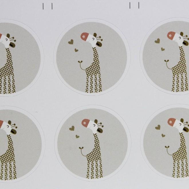 10 autocollants girafe