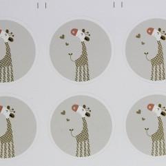 10 Autocollants Girafes