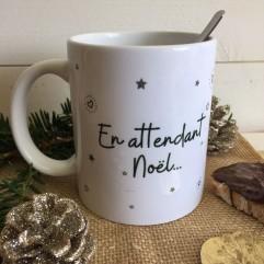 """MUG """"En attendant Noël"""" renne"""
