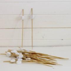 24 piques cœurs bois blanc