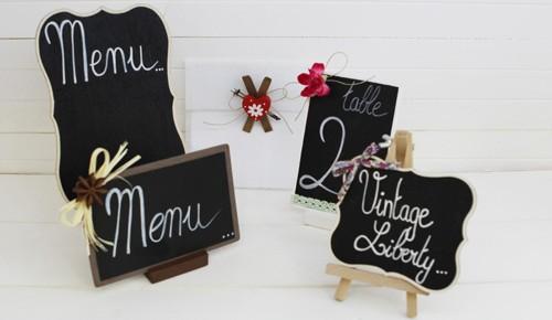 Carte menu mariage : table de mariage - Les P\'tites Fées
