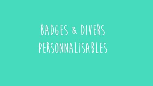 Favori badges personnalisables pour baptême - idées cadeaux - Les P'tites  WY94